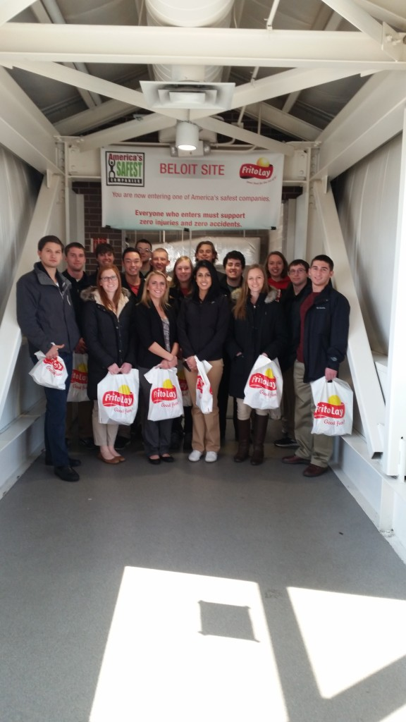 Students tour Frito Lay as part of Midwest Reginal Rally 2016, hosted by UW-Madison